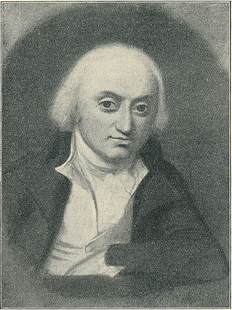 Niels Ditlev Riegels - Niels Ditlev Riegels. Black/white reproduction of a painting by Jens Juel.