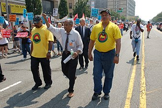 John Conyers - Conyers at an anti-war march in Newark, New Jersey, 2007