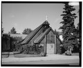 NORTHEAST FRONT - St. Matthew's Episcopal Church, 1022 First Avenue, Fairbanks, Fairbanks North Star Borough, AK HABS AK,6-FAIBA,9-1.tif