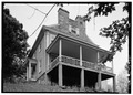 NORTH (SIDE) ELEVATION WITH BALCONY - Thomas Leiper House, 519 Avondale Road, Wallingford, Delaware County, PA HABS PA,23-WALF,1-1.tif