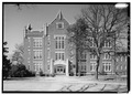 NORTH SIDE ELEVATION, LOOKING SOUTH - Winthrop College, Withers Building, Oakland Avenue, Rock Hill, York County, SC HABS SC,46-ROHI,1A-8.tif
