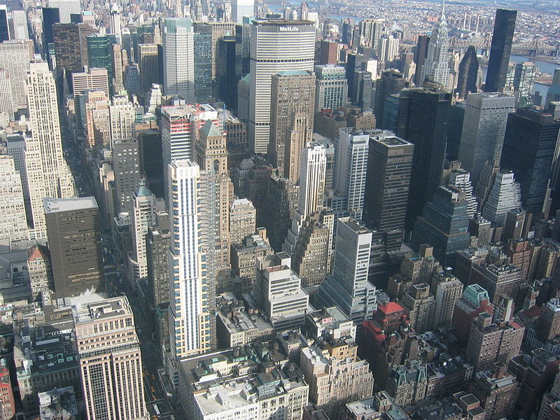 Fichier:NYC Manhattan from Empire State Building 2003.jpg