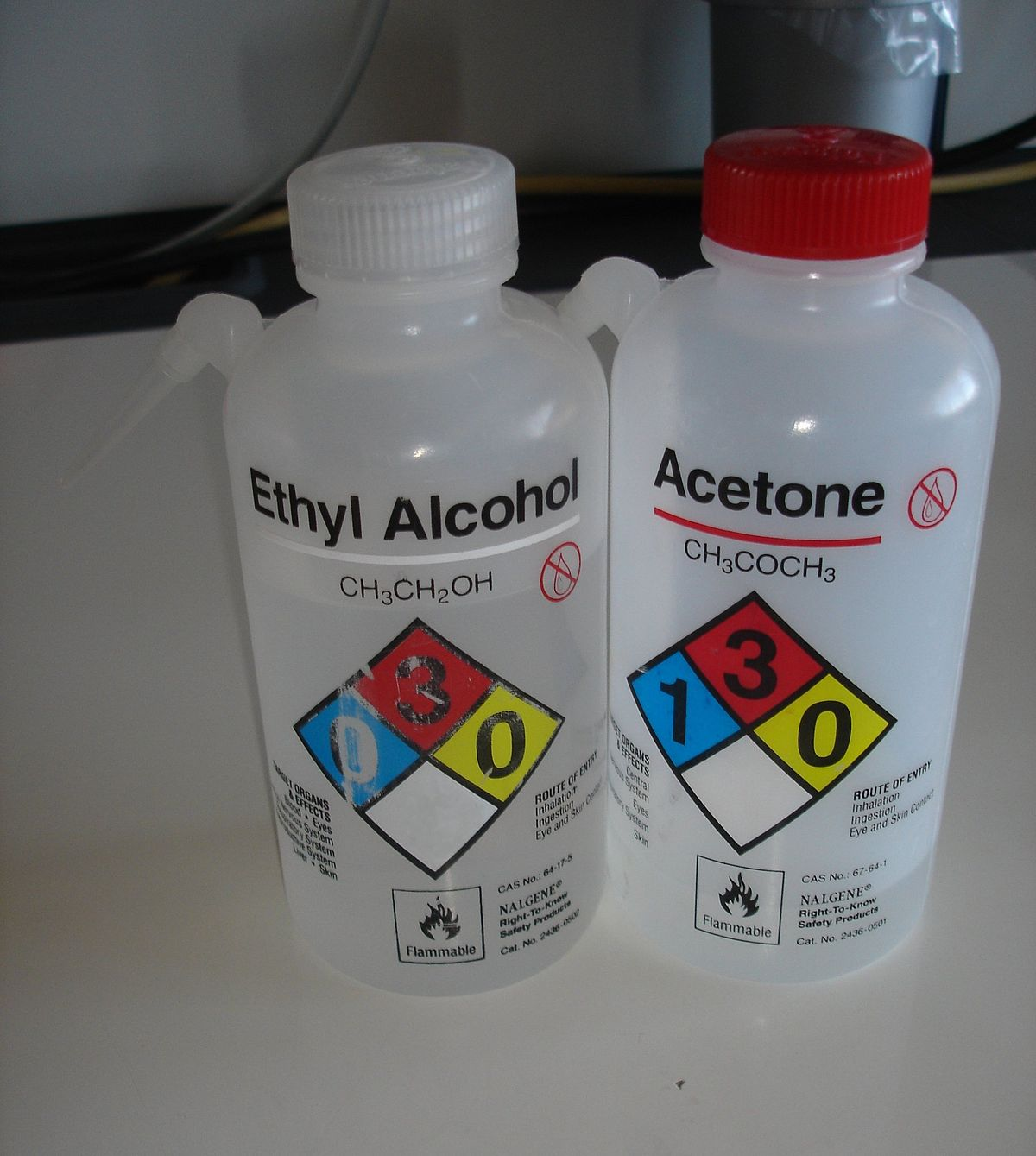 how to clean a nalgene with stickers