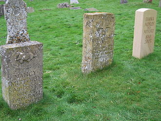 Diana Mitford - Diana's grave at far right, next to those of her sisters, Unity and Nancy