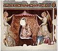 Nanni di jacopo (attr.), madonna del baldacchino tra angeli e santi francescani e dmenicani, 1390 ca. 01.jpg
