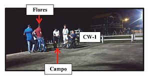 Narcosobrinos incident - Campo and Flores meeting with CW-1 who was confined to a wheelchair.