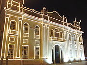 Building of the former Centre of Aracaju, decorated for Christmas.