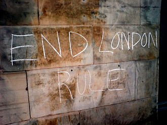 Politics of Scotland - Pro-independence graffiti in Edinburgh
