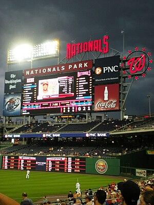 Washington Nationals - Nationals versus the Cincinnati Reds in 2009 at Nationals Park