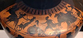 Eurypylus (son of Telephus) - Image: Neoptolemos Eurypylos Martin von Wagner Museum L309