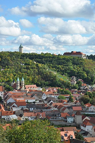 Freyburg, Germany - Neuenburg view from Freyburg