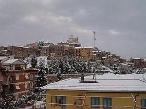Castel Madama - Image: Nevicata castel madama