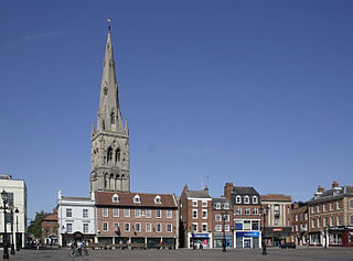 market town in Nottinghamshire in the East Midlands of England