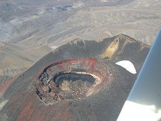 Mount Ngauruhoe - Aerial photo of crater