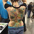 Nice back piece by Joey Martin of Rock Steady Tattoo in Hampton, VA. (25269878950).jpg