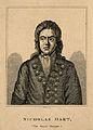 Nicholas Hart, a hypersomniac. Line engraving by R. Grave. Wellcome V0007120.jpg