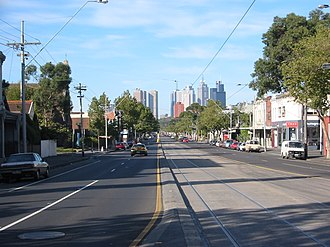 Nicholson Street, Melbourne - Nicholson Street, looking towards the city