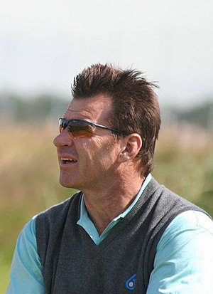 English: The British professional golfer Nick ...