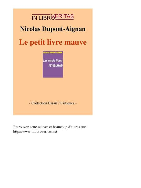 File:Nicolas Dupont-Aignan - Le petit livre mauve (by-sa).pdf