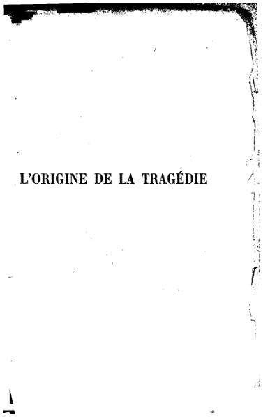 File:Nietzsche - L'Origine de la Tragédie.djvu