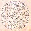 Nigg stone detail petley 1812 Pl21 disk.JPG