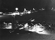 Night maintenance on the USAF B-36 Bomber