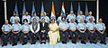 Nirmala Sitharaman with the Minister of State for Defence, Dr. Subhash Ramrao Bhamre, the Chief of the Air Staff, Air Chief Marshal B.S. Dhanoa, the Air Force Commanders and senior officials of Ministry of Defence.JPG