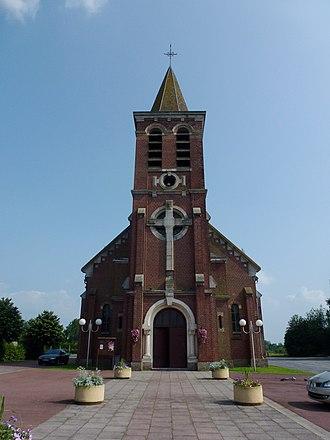Nivelle - Image: Nivelle (Nord, Fr) église, extérieur