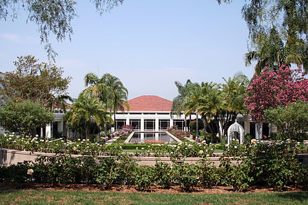 Richard Nixon's Presidential Library and Museum located in Yorba Linda, California Nixon Library and Gardens.jpg