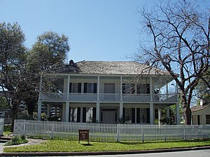 Sam Houston Park - The Kellum-Noble House is a Historic American Building  in Sam Houston Park
