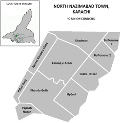 Union councils of North Nazimabad Town