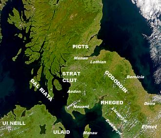 Y Gododdin - The Gododdin and neighbouring kingdoms