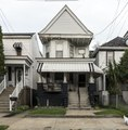 North Front Street homes on Wheeling Island, part of Wheeling, West Virginia, that lies in the middle of the Ohio River LCCN2015632098.tif