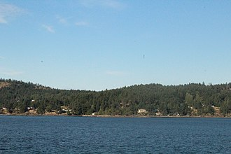 Pender Island - North Pender Island from the ferry