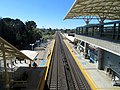 North ends of Caltrain platforms at Millbrae station, June 2018.JPG