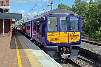 Wigan North Western railway station - The Northern Electrics Class 319 service from Liverpool, introduced on 17 May 2015