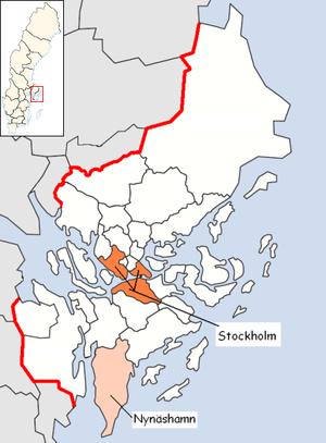 Nynäshamn Municipality - Image: Nynäshamn Municipality in Stockholm County