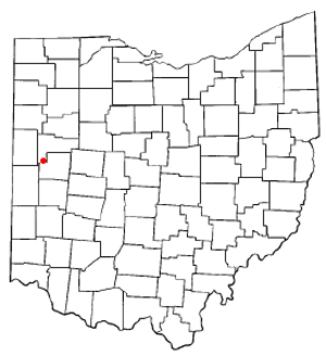 Minster, Ohio - Image: OH Map doton Minster