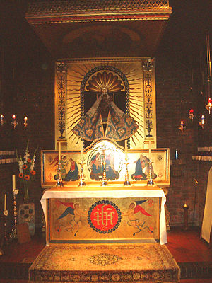 Anglican Marian theology - The Holy House in the Anglican Shrine of Our Lady of Walsingham.