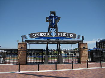 English: An entrance to ONEOK Field in Tulsa, ...