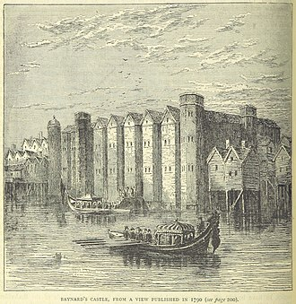 Baynard's Castle - Baynard's Castle, from a view published in 1790