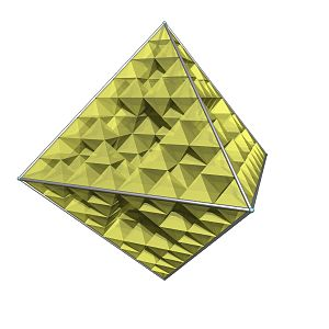 N-flake - Image: Octaedron fractal