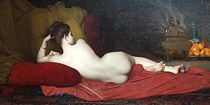 Odalisque - Odalisque painted by Jules Joseph Lefebvre (1874)