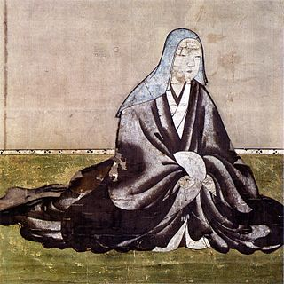 a prominently-placed female figure in late-Sengoku period