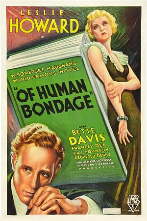 Of Human Bondage (1934 film) - Theatrical release poster