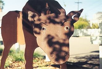 Ohlone Greenway - Public art along the Ohlone Greenway: sculpture by the path in Berkeley.
