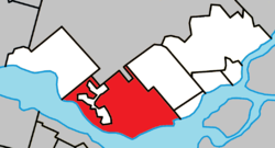 Location within Deux-Montagnes RCM
