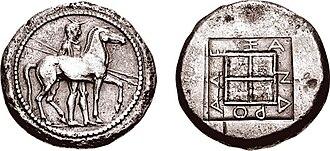 Alexander I of Macedon - silver tetradrachm of Alexander I