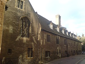 Corpus Christi College, Cambridge - The back of Old Court, built in 1356, seen from the Old Cavendish Lab.