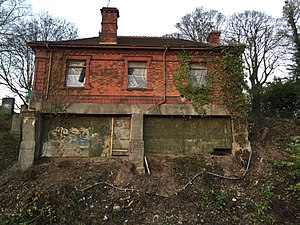 Llandaf railway station - Image: Old Llandaf Station Building